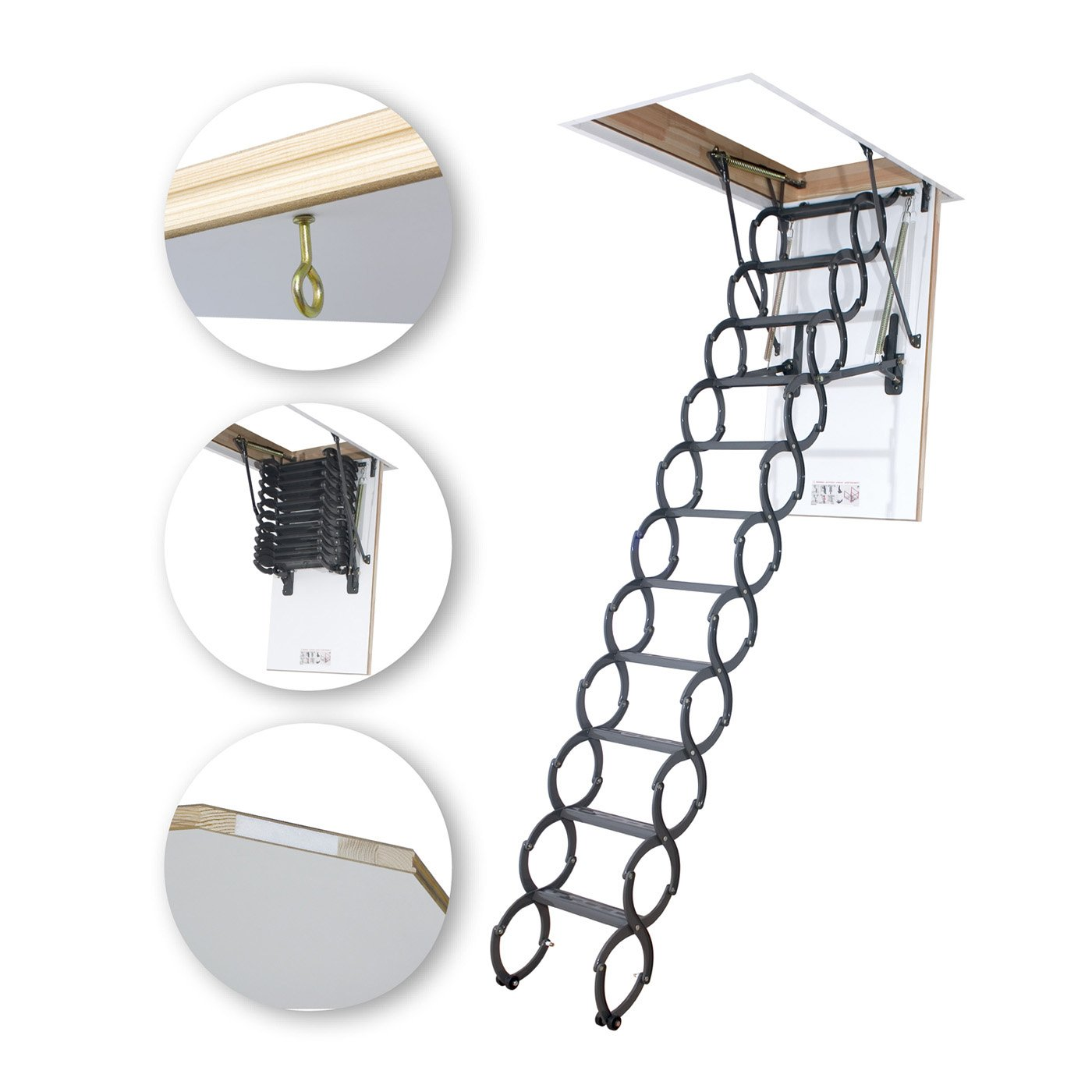 Motorlu Makaslı Çatı Merdivenleri
